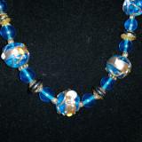 Colier Sticla Murano albastra - C013