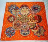 Esarfa matase Hermes vintage, colectia Les Domes Celestes, Multicolor