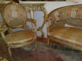 Salon frantuzesc/canapea cu fotolii stil baroc/Ludovic/rococo,inceput 1900, Sufragerii si mobilier salon, 1900 - 1949