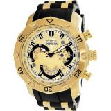 Ceas Invicta barbatesc Pro Diver 23427 auriu Rubber Swiss Chronograph Fashion