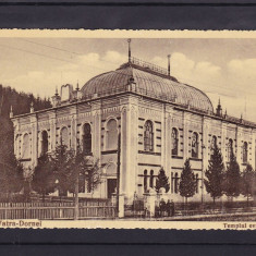 IUDAICA  BUCOVINA  SINAGOGA TEMPUL EVREESC  VATRA DORNEI, Necirculata, Fotografie