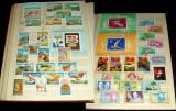 Clasor Romania 353 timbre + 16 colite + 3 blocuri + 3 minicoli, serii complete, Romania de la 1950