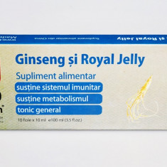 Fiole cu extract de Ginseng si Royal Jelly 10fiole x 10ml