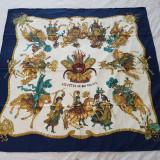 Esarfa matase model Hermes vintage, colectia Les Fetes du Roi Soleil, Multicolor