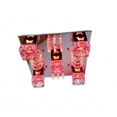 Lustra rich 9116/400, multicolora, telecomanda, 5*e27 dulie ceramica, leduri multicolore
