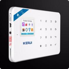 Sistem alarma kerui w18 wifi wireles + gsm aplicatie mobila si internet