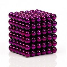 Neocube 216 bile magnetice 5mm, joc puzzle, culoare mov, peste 14 ani