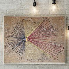 TABLOU HANDMADE - 100 ANI ROMANIA - CENTENAR (tricolor)