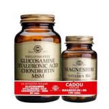 Pachet Glucosamine Hyaluronic Acid Chondroitin MSM 60tb + Magnesium cu B6 100 tablete Gratis SOLGAR
