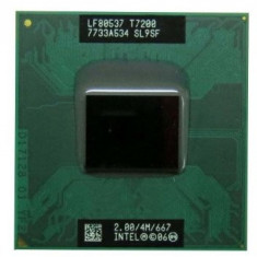 M-69.Procesor Laptop Intel Core 2 Duo 2 GHz Socket M - SL9SF T7200, Intel Core Duo