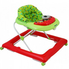 Premergator copii cu roti din silicon Baby Mix BG 1601 Red Green