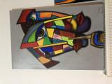 Tablou, Abstract, Acrilic, Cubism