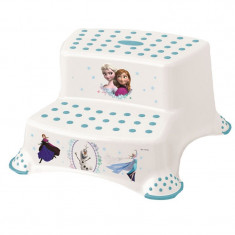 Inaltator cu doua trepte pentru toaleta si chiuveta OKT Kids Disney Frozen 186491-A, Alb