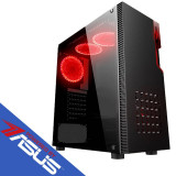 Sistem desktop Fusion Plus Powered by ASUS Intel Core i3-8100 Quad Core 3.6 GHz 8GB DDR4 GTX 1050 Ti 4GB DDR5 HDD 1000GB 120GB SSD Free Dos Black