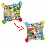 Joc Creativitate Si Indemanare Quercetti Puzzle Labirint Cu 2 Fete Masini Si Animale
