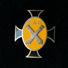 Insigna regiment de 7 ani - Regimentul 6 A.G ( Artilerie Grea) Timisoara