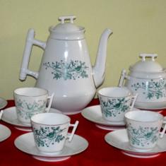 Delicat serviciu ceai din portelan pentru 6 persoane C.Tielsch & Co.1875 - 1918