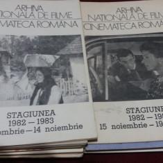 LOT 20 BROSURI ARHIVA NATIONALA DE FILME  - CINEMATECA ROMANA ANII 80