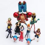 Set Figurina One Piece Luffy Zoro Sanji Robin Nami Brook anime 6-15 cm