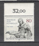 Berlin.1985 150 ani moarte W.Freiherr von Humboldt:om de stat-Sculptura  PB.51
