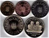 SERIE 2018 1 ban+5+10+50 bani+50 bani comemorativ Marea Unire a.UNC/UNC din fisi