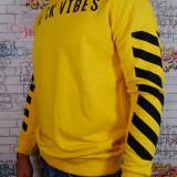 "Bluza/Hanorac fashion ""Black Vibes"" Bumbac 100%, L, M, S, XL, XXL, La baza gatului"