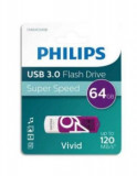 Stick USB Philips Vivid Edition, 128GB, USB 3.0 (Violet)