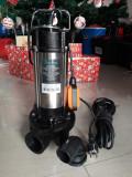 Pompa submersibila cu tocator, 1500W, REFULARE 14M, Inox, debit 2.3 m³/h, Pompe submersibile, de drenaj