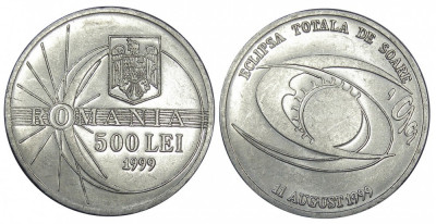 ROMANIA 500 LEI 1999 ECLIPSA UNC NECIRCULATA foto