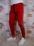 """Pantaloni de trening fashion model 2018, dunga """"TAXI"""" Bumbac 100% Rosu si Galben, L, Lungi"""