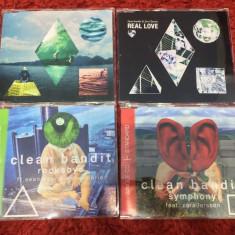 LOT 4 CD-uri single Clean Bandit (dance) , toate hiturile lor - NOI, RARe