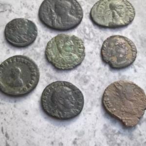 Monede Romane bronz 235 E.N. -476 E.N. lot de 8 bucati autentice