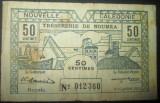 Noua Caledonie : 50 centime 1942 . VG ( bancnota stare VG)