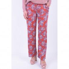 Pantaloni Florali Vero Moda Maker Wide Lullu Rosu
