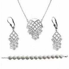 Set cu colier, cercei și brățară din argint Happiness