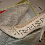 Pantofi eleganti, Crem