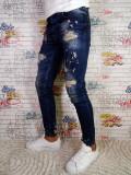 Blugi barbati Tip Zara Slim/Skinny Conici Model Nou 2018, 31 - 34, Din imagine, Lungi