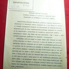 Memoriu adresat Pres. N.Ceausescu ,cu Recipisa de Registratura CC al PCR 1989