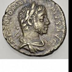 Denarius roman Elagabalus argint 2.32g denar autentic an 218 E.N.