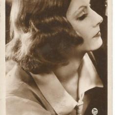 (B) carte postala-ACTORI- Greta Garbo, Necirculata, Printata