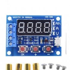 tester baterii acumulatori lipo 12v 18650 hw-586 li-ion cu rezistente