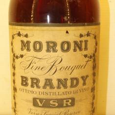 BRANDY FINE BOUQUET, VSR, MORONI, DISTILLATO DI VINO   L. 1 gr. 43 ANI 50/60