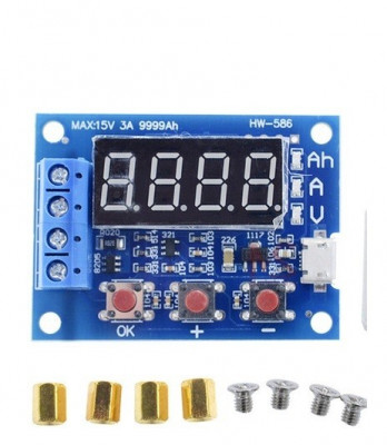 tester baterii acumulatori lipo 12v 18650 hw-586 li-ion tester + rezistente foto