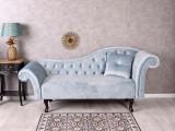 SOFA CHESTERFIELD DIN LEMN MASIV CU TAPITERIE ALBASTRU MARIN  FHA007, Sufragerii si mobilier salon
