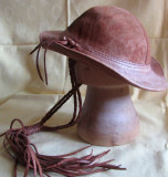 Sancho hat, hand made, cafenie, unicat