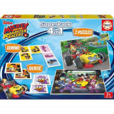 Puzzle 4 In 1 The Superpack Mickey And The Roadster Racer 2 X 25 Piese, Educa