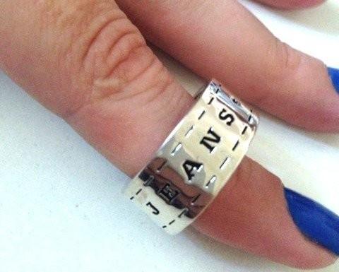 Inel barbati JEANS VERIGHETA placat cu aur 18k - vintage marimea 6, 16mm
