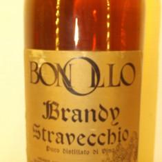 BRANDY STRAVECCHIO, PURO DISTILLATO DI VINO  BONOLLO  L. 1 gr. 40 ANI 70