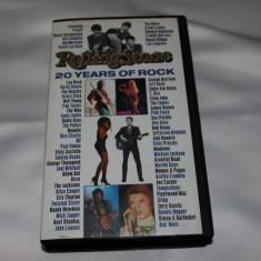 [VHS] Rolling Stone - 20 years of rock  - caseta video originala