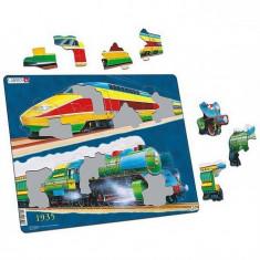 Puzzle Trenuri, 24 Piese Larsen Lrgn4